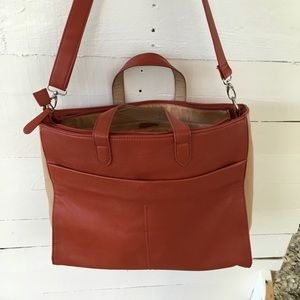 Faux Leather Shoulder Tote Bag